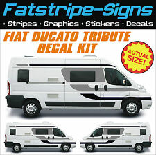 FIAT DUCATO TRIBUTE MOTORHOME VINYL GRAPHICS STICKERS DECALS STRIPES CAMPER VAN