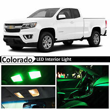 15x Green LED Light Interior Package Kit for 2015-2017 Chevy Colorado
