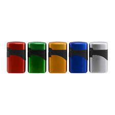ACCENDINO LIGHTER ATOMIC TURBO JET FLAME RICARICABILE ANTIVENTO COLORI METALLICI