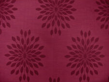 1 yard of Arc/com Lotus Floral Medallion Wine burgandy Drapery Upholstery Fabric