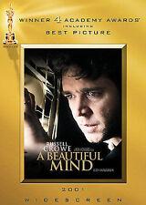 A Beautiful Mind 2 DVD Set Russell Crowe Jennifer Connelly Academy Winner