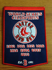 NEW 5 X 7 INCH BOSTON RED SOX WORLD SERIES CHAMPIONS BANNER IRON ON PATCH