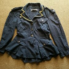 Fitted Jacket -  Navy Blue - UK 10 - Gothic/Military/Steampunk/ Quirky - OFFERS