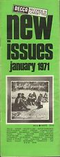 DECCA RECORD CATALOGUE SUPPLEMENT 1971 01 JANUARY matthew southern comfort/etc