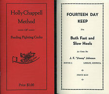 game fowl spurs 2 x books poultry methods conditioning