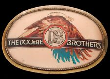 NH02157 GREAT VINTAGE 1977 PACIFICA ***DOOBIE BROTHERS*** ROCK MUSIC BELT BUCKLE