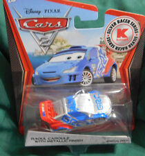 Disney Pixar Cars 2 Silver Racer Series RAOUL CAROULE w/METALLIC FINISH  2011