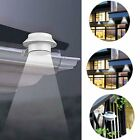 3 LED Solar Powered Gutter Fence Lights Outdoor Garden Yard Wall Path Roof Lamp