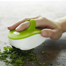 Chef'n Palm Mincer Rolling Herb Finger Blade Chop Dice Kitchen Gadgets Easy Use