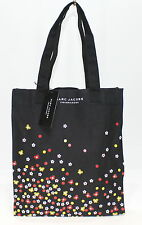 MARC JACOBS FRAGRANCES DOT, HONEY, DAISY PRINT  BLACK CANVAS TOTE /SHOPPER BAG