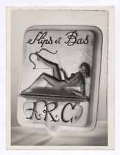 PHOTO Publicité Pub Advertising 1960 NOVITA Slips et Bas ARC Logo Nature morte