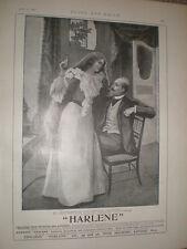 Harlene hair restorer 1897 old art advert ref L