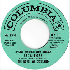 "Dukes of Dixieland Lida Rose b/w If I were a Bell 1962 EP 7"" 45rpm promo (poor)"
