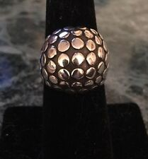 John Hardy Sterling Silver Dot Dome Ring Size 7