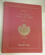 History of the Monies, Medals and Tokens of Monaco 1649-1977 Raymond de Vos