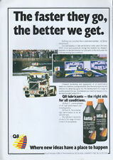 Q8 Auto 7 Lubricants Oil 1988 Magazine Advert #3884