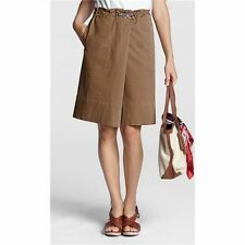 Lands' End - 14 (L) - NWOT - Brown Elastic Waist Cotton Pull-on Skirt - Comfy