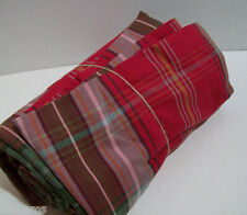 "Pottery Barn Holiday Multi Colors Newbury Plaid Cotton Tablecloth 70"" X 108"" New"