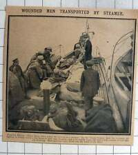 1915 Wounded Russian Soldiers Taken Across Vistula On A Steamer