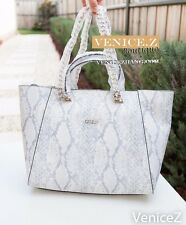 BNWT RRP$199 GUESS NIKKI Chain Tote Satchel Shoulder Bag Handbag Python White