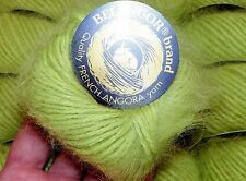 Easter APPLE GREEN Skein Galler BELANGOR 100% ANGORA Rabbit Fur SOFT Luxury Yarn