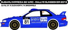 DECALS 1/43 SUBARU IMPREZA WRC #81 - DUCKWORTH- RALLYE SUNSEEKER 2013 - D43259
