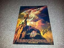 "THE HUNGER GAMES : CATCHING FIRE CASTX7 PP SIGNED 12"" X 8"" A4 PHOTO POSTER"