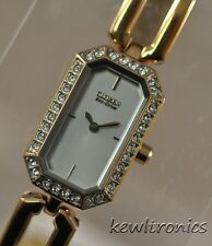 New Ladies Citizen Eco Drive EG2763-58A Silhouette Rosetone Crystal Steel Watch