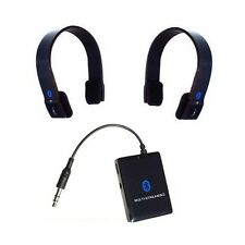 KOKKIA A10m Multi-Stream Bluetooth 3.5mm Transmitter PLUS 2 S10 Stereo Headsets