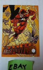 Flash FirePower 1996 DC 10 of 20 Fleer Skybox Promo Trading Card HS