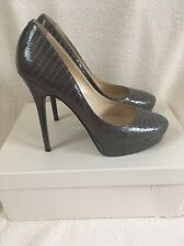 Jimmy Choo 'cosmic' Stiletto Court Heels Pumps Grey Lizard Size Uk 6 Eu 39