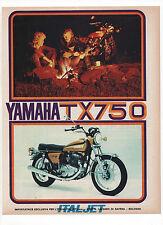 Pubblicità 1972 MOTO MOTOR YAMAHA TX 750 advertising werbung reklame publicitè