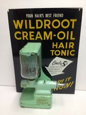 RARE 5c COIN OP WILDROOT CREAM OIL HAIR TONIC DISPENSER SIGN BARBER SHOP WORKS!