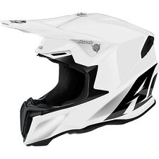 AIROH CASCO TWIST 2016 BIANCO WHITE LUCIDO HELMET MOTO CROSS ENDURO TG M