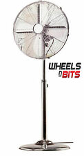 "NEW 50 WATT 40CM 16"" INCH High Velocity Free standing Floor Fan Chrome ELECTRIC"