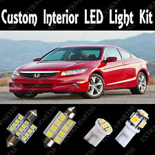 10X White LED Lights Interior Package Kit For 03-2012 Honda Accord Coupe & Sedan