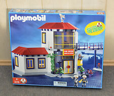 Playmobil Fire House Station #3175 with Firemen and Accessories
