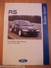 Ford Rallye Sport Series For Escort RS2000 Folder 1992