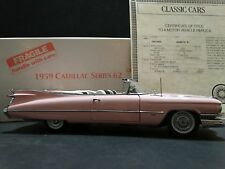 Danbury Mint 1959 Cadillac Series 62 Pink Convertible 1:24 Diecast Model 59 Car