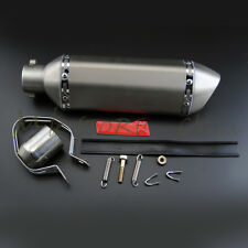 51MM Exhaust Muffler With Removable DB Killer For Dirt Street Bike Motorcycle