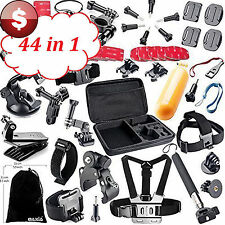 44 in 1 GoPro Session HERO 4 3+ 3 2 1 Accessories Outdoor Sports Bundle Kit