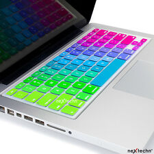 "Silicone Keyboard Cover Skin for MacBook Air Pro Retina Mac13 15 17"" Rainbow"