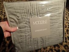 Moderne Noble Excellence Sham Standard GRAY Silver Pillow Serendipity Case NEW