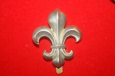 BRITISH ARMY REGIMENT CAP BADGE PRE WW2 COPY ALL WHITE METAL MANCHESTER