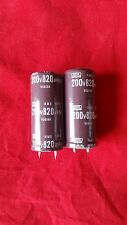 2 PCS 820UF 820mfd 200V Electrolytic Capacitor 105 degrees USA FREE SHIPPING
