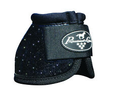 Black GLITTER Medium Professionals Choice Horse Over-Reach Bell Boots