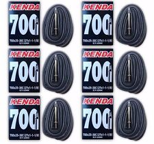 6-Pack Kenda 700x25-30C 60mm XL Threaded Presta Valve Road Bike Inner Tubes