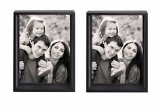 """Clearance! 2 Pack of Adeco Black Wood Shadow Box-style Photo Frame 5""""x7"""" -AMbx3T"""