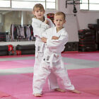 Blitz Childrens 10oz Polycotton Kids White Judo Suit Uniform Gi Lightweight New