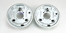 "LH & RH Pair Titan Trailer Hydraulic Drum Brake Backing Plates 10"" x 2 1/4"" Shoe"